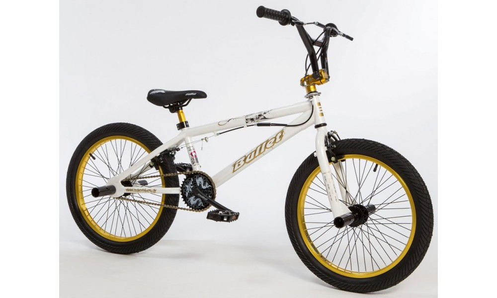 Bullet Bora Freestyle BMX White & Gold